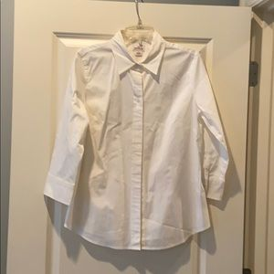 J Crew Haberdashery White Button Down - Size Large